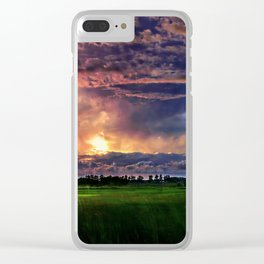 Explosive Sky Clear iPhone Case