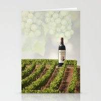wine Stationery Cards featuring Wine by Gouzelka