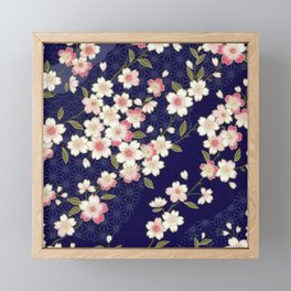 De Cherry Blossoms Framed Mini Art Print