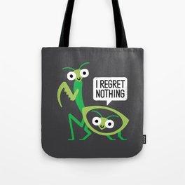 When a Mantis Loves a Woman Tote Bag