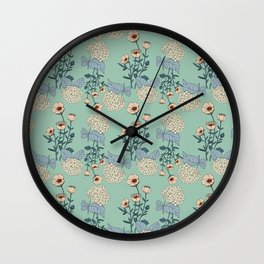 Botany Dos Wall Clock
