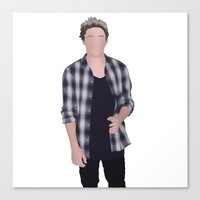 niall horan Canvas Prints featuring NIALL HORAN by Samantha Anderson
