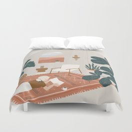 the living room rug Duvet Cover