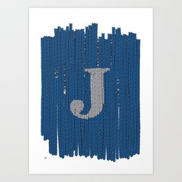 Winter clothes. Letter J II. Art Print