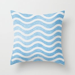 Waves. Throw Pillow