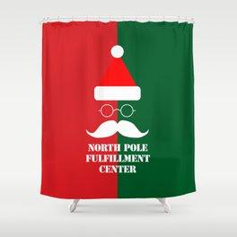 North Pole Fulfillment Center Shower Curtain