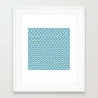8 bit Framed Art Prints featuring 8-bit by Cyan Rose