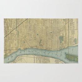 Vintage Map of Detroit Michigan (1895) Rug