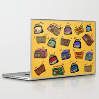 radio Laptop & iPad Skins featuring Radio Show by andy_panda_