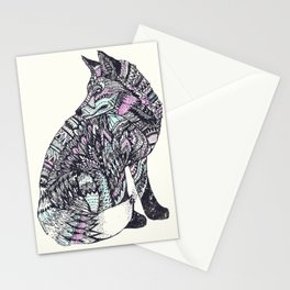 psychedelic fox Stationery Cards
