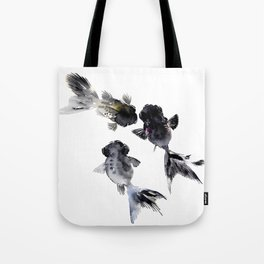 Black Moor, Feng Shui Koi Fish Art Tote Bag