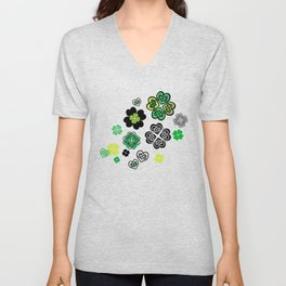 Celtic Love Knot Clovers Unisex V-Neck