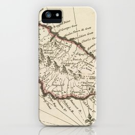 Vintage Map of Saint Kitts (1732) iPhone Case
