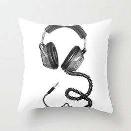 Headphone Culture Throw Pillow