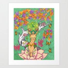 the birth of taurus Art Print