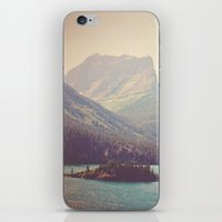 retro iPhone & iPod Skins featuring Retro Glacier by Kurt Rahn