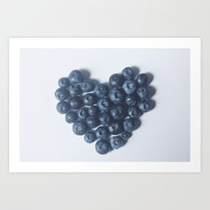 Blueberry Love Art Print