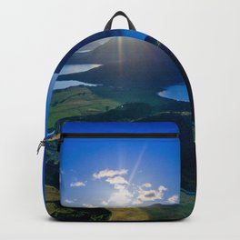 lake wanaka covered in blue colors new zealand beauty Backpack