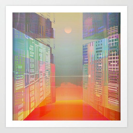 Open Gates / Spatial sluices / Entrance to summer Art Print