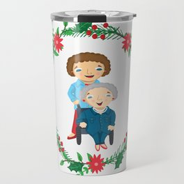 Custom Family Portraits Travel Mug