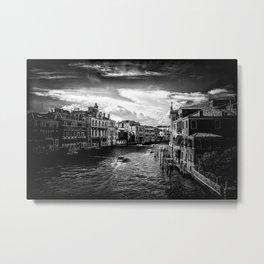 Venice B&W Metal Print
