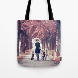 AUTUMN DOGS Tote Bag