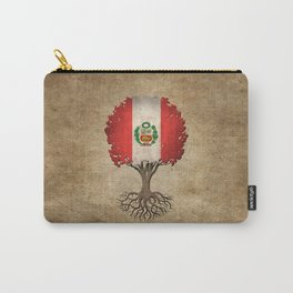 Vintage Tree of Life with Flag of Peru Carry-All Pouch