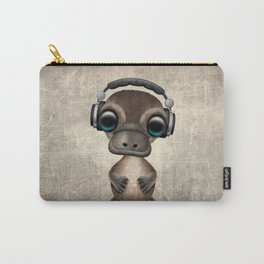 Cute Baby Platypus Deejay Wearing Headphones Carry-All Pouch