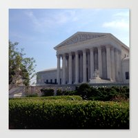 supreme Canvas Prints featuring Supreme Court by KatieKatherine