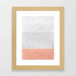 Grey Rose Framed Art Print