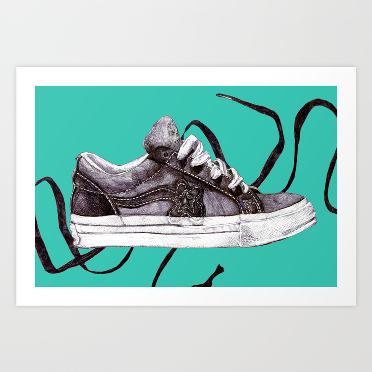 Converse One Star Ox Tyler The Creator Golf Le Fleur Poster Art Print By Jackiesiry Society6