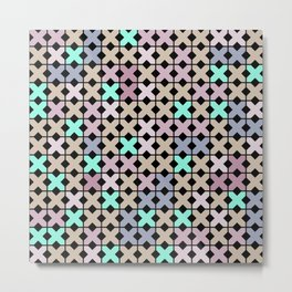 Abstract pattern embroidery cross stitch Metal Print
