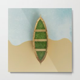 Gentle sea of rippling green Metal Print