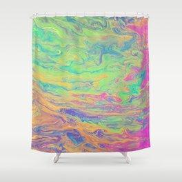 Retro Rainbow Shower Curtain