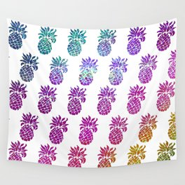 Hologram pineapples Wall Tapestry