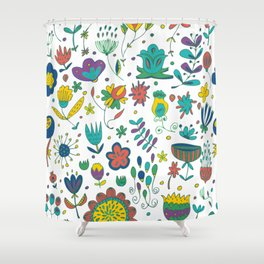 Flowers, flower meadow, nature Shower Curtain