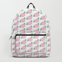 Simple Pink Flower Backpack