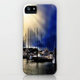 Sky Opening to Sailboats iPhone Case