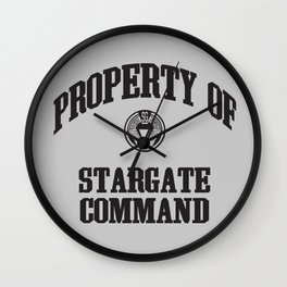 Property of Stargate Command Athletic Wear Black ink Wall Clock
