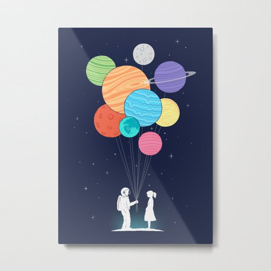 You are my universe Metal Print