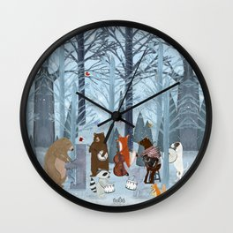 little nature symphony Wall Clock
