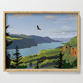 The Columbia Gorge BRIGHTER! Serving Tray