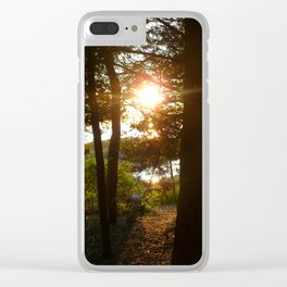 Sun on the Water Clear iPhone Case