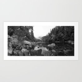 Panaramic Pond Art Print