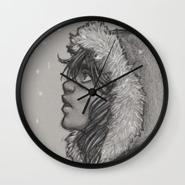 Ash and Snow Wall Clock