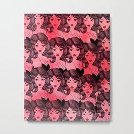 Joanie Red Metal Print