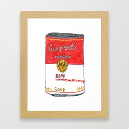 Can of Beef Soup  Framed Art Print