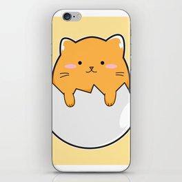 Yellow Cat Egg iPhone Skin