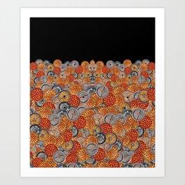 PIZZA & PLATES Art Print