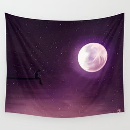 Jimin Serendipity Talking to the Moon Purple Version Wall Tapestry